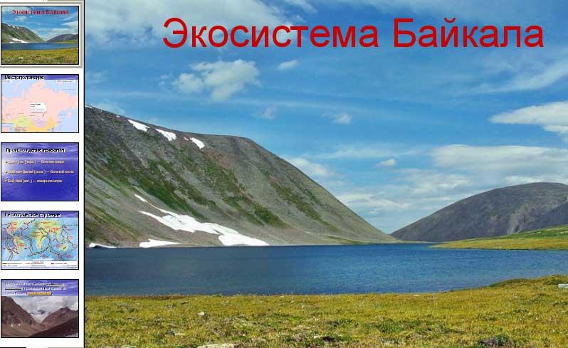 Экосиситема Байкала