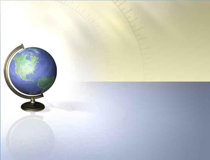 Шаблон школьный глобус